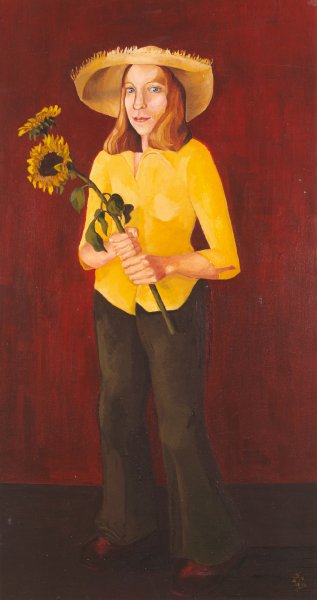 The Flower Girl  2001 40 x 70 cm  Oil on Canvas  SOLD