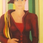 The Europeanisation Of Mrs Yokoto  2003  100 x 55 cm Oil on Canvas  SOLD