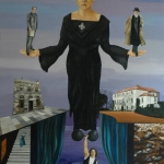 The Importance of Being Lady Gregory  2003  120 x 80 cm Oil on Canvas