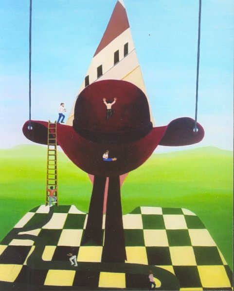 The Race to Success  2003  50 x 60 cm  Oil on Canvas  SOLD