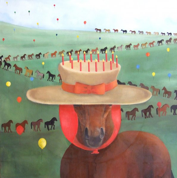 Happy Birthday George  2010  60 x 60 cm  Oil on Canvas  SOLD