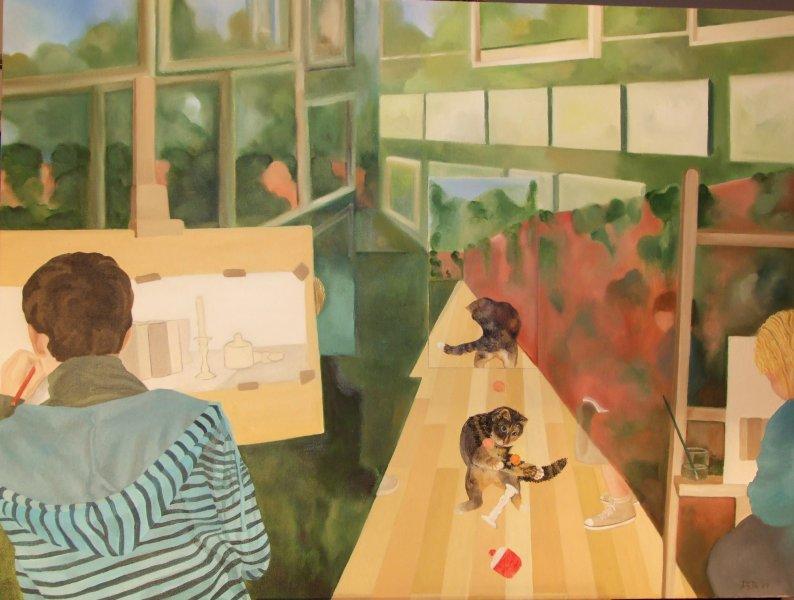 My Studio  2008  60 x 80 cm  Oil on Canvas  SOLD
