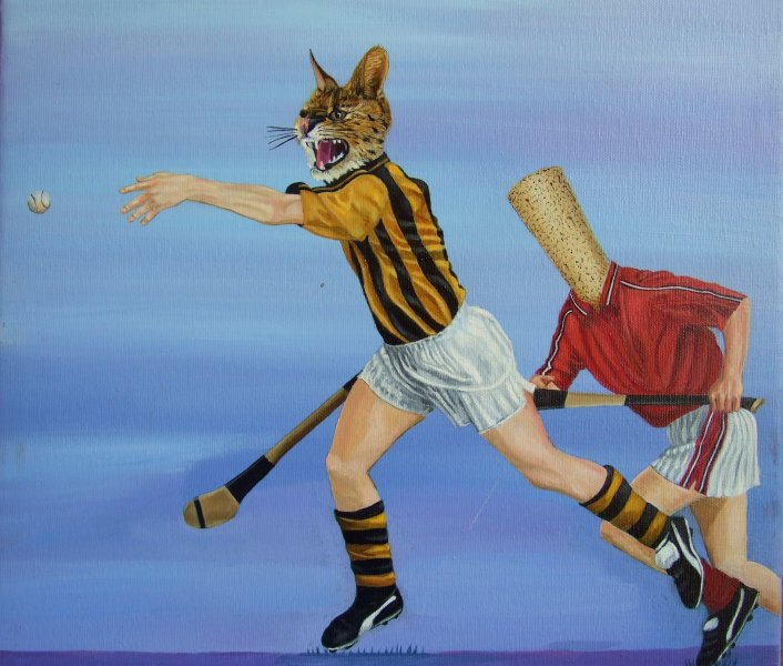 The Ball is Mine  2006  40 x 40 cm  Oil on Canvas  SOLD