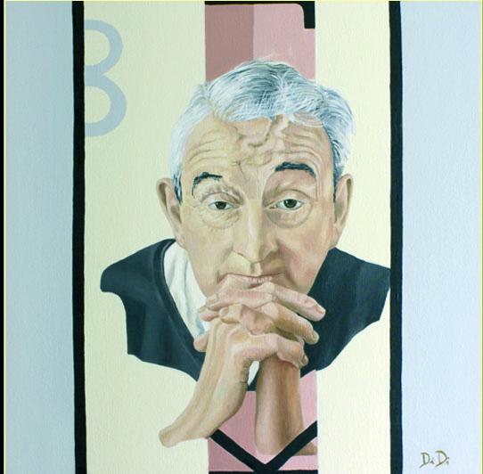 John B Keane  2006  40 x 40 cm  Oil on Canvas  SOLD