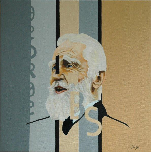 Bernard Shaw  2005  40 x 40 cm  Oil on Canvas