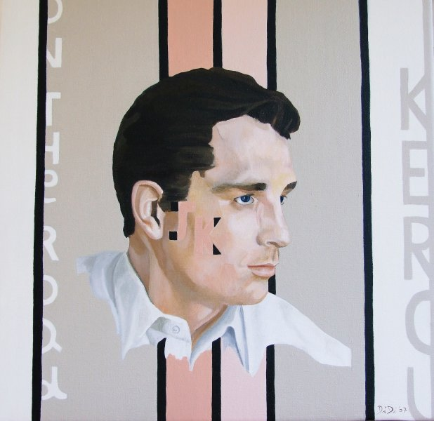 Jack Kerouac  2008  40 x 40 cm  Oil on Canvas  SOLD