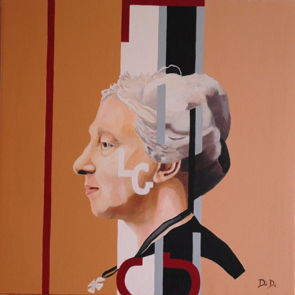 Lady Gregory  2005  40 x 40 cm  Oil on Canvas
