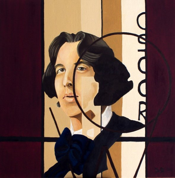Oscar Wilde  2004  40 x 40 cm  Oil on Canvas  SOLD