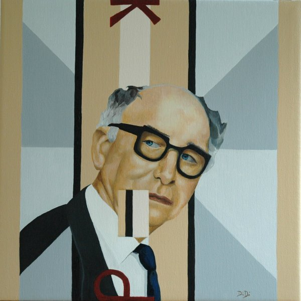 Patrick Kavanagh  2005  40 x 40 cm  Oil on Canvas  SOLD