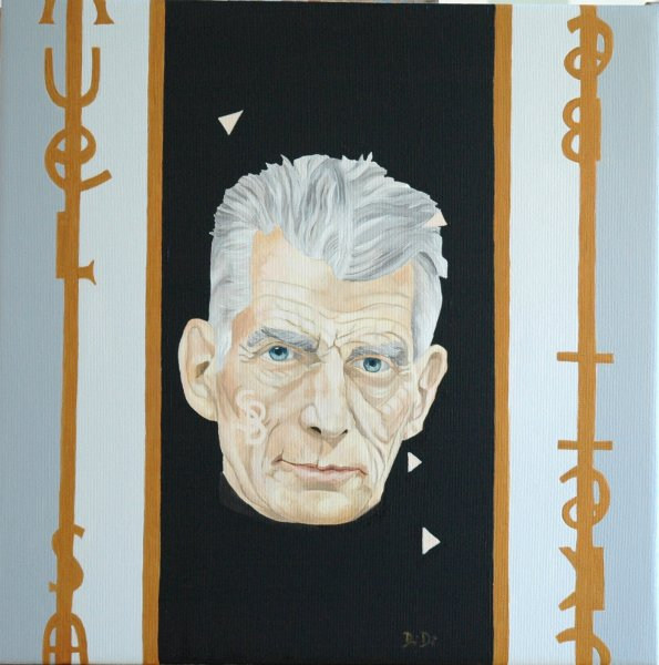 Samuel Beckett  2005  40 x 40 cm  Oil on Canvas  SOLD