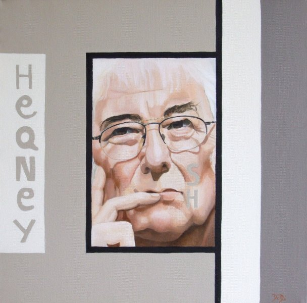 Seamus Heaney  2009  40 x 40 cm  Oil on Canvas