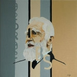 Bernard Shaw  2005  40 x 40 cm  Oil on Canvas