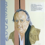 Brendan Kennelly  2006  40 x 40 cm  Oil on Canvas  SOLD