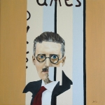 James Joyce  2005  40 x 40 cm  Oil on Canvas