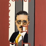 James Joyce  2004  40 x 40 cm  Oil on Canvas  SOLD