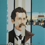 John M. Synge  2005  40 x 40 cm  Oil on Canvas