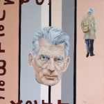 Samuel Beckett  2009  40 x 40 cm  Oil on Canvas SOLD