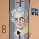 W.B. Yeats  2009  40 x 40 cm  Oil on Canvas