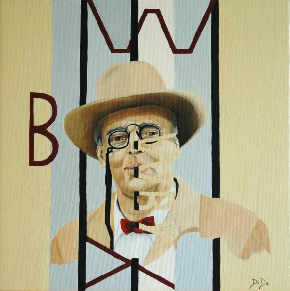 W. B. Yeats  2004  40 x 40 cm  Oil on Canvas  SOLD