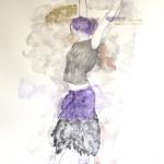 """Les Girls """"Veronique""""  2010  60 x 80 cm  Ink, Pencil, Oil on Paper"""