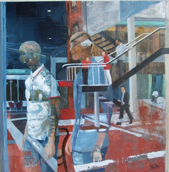 At the Mall 2012 50 x 50 cms Oil Paint on Canvas