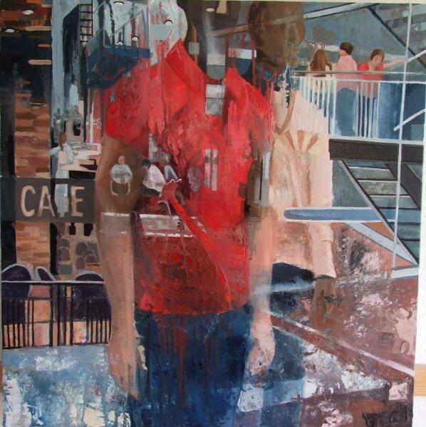 Sunday Morning 2012 60 x 60cms Oil Paint on Canvas