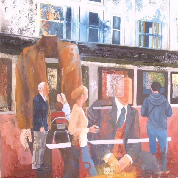 2012-sunday-stroll-50-x-50-cms-oil-paint-on-canvas