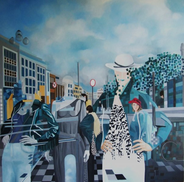 Saturday\'s Must  2010  100 x 100 cm  Oil on Canvas