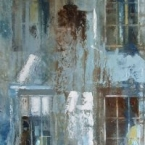 Blue Home 2012 30 x 90 cms Oil Paint on Canvas