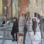 Daytime Buzz 2012 20 x 20 cms Oil Paint on Canvas SOLD