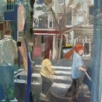 High Street 2012 20 x 20 cms Oil Paint on Canvas SOLD