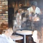 Breakfast at Paddy's  2010  80 x 80 cms Oil on Canvas  SOLD