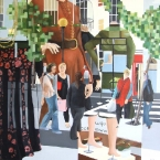 High Street Buzz  2010  70 x 70 cm  Oil on Canvas